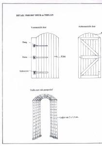 detail deur en trellis